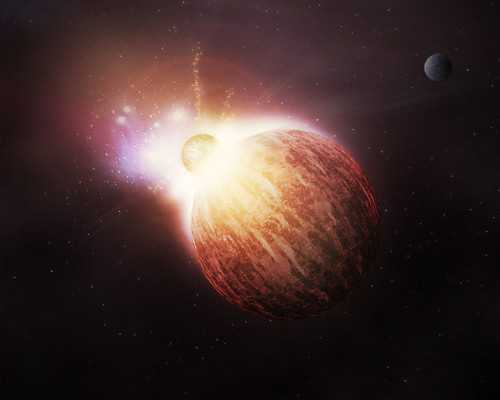 Fiery Photoshop Space Explosion